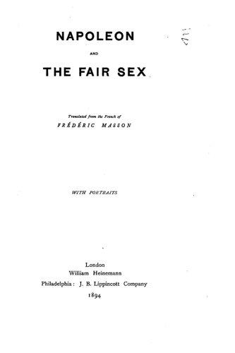 9781530017430: Napoleon and the Fair Sex