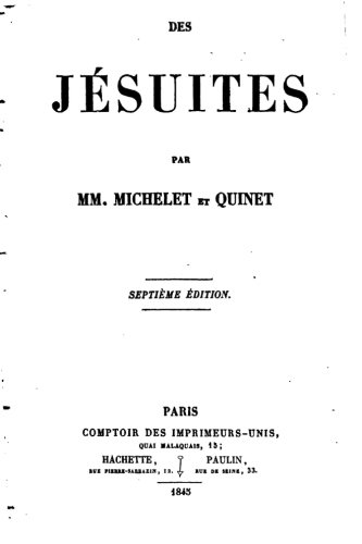 9781530019328: Des jésuites (French Edition)