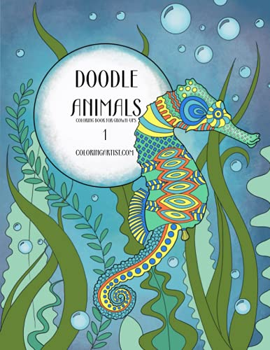 9781530024148: Doodle Animals Coloring Book for Grown-Ups 1 (Volume 1)