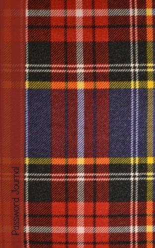 9781530026784: Password Journal: Password Keeper / Scottish Gifts / Tartan ( Internet Address Notebook )