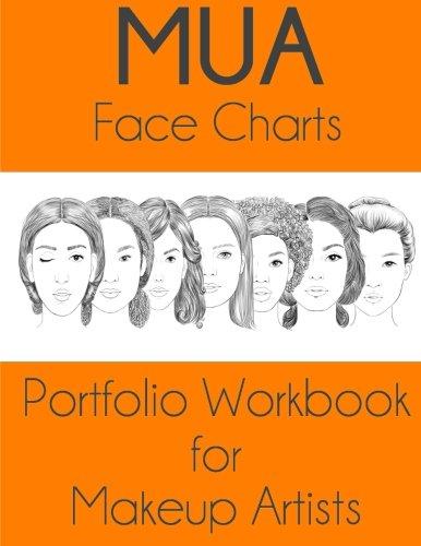 9781530032167: MUA Face Charts Portfolio Workbook for Makeup Artists