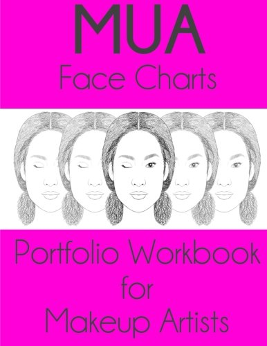 9781530038114: MUA Face Charts Portfolio Workbook for Makeup Artists: Rhya Edition