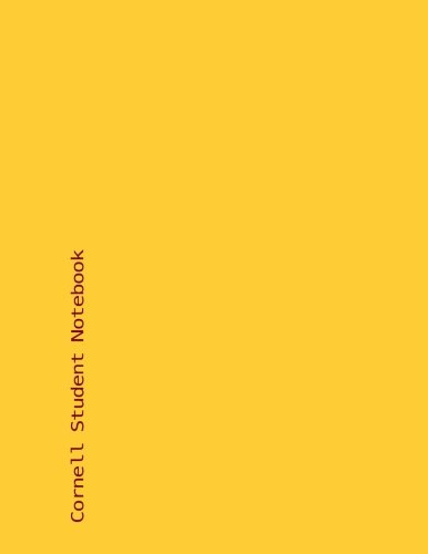 9781530044429: Cornell Student Notebook: University of Mineesota