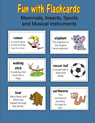 9781530068081: Fun with Flashcards: Mammals, Insects, Sports and Musical Instruments