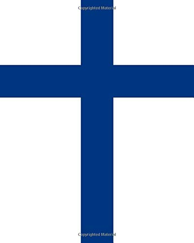 9781530116010: Finnish Flag Notebook: College Ruled Writer's Notebook for School, the Office, or Home! (8 x 10 inches, 120 pages)