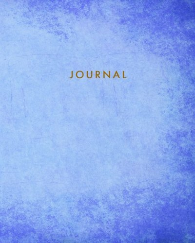 Journal: Blank Lined Notebook Blue 8 x 10 (TGR Journals): TGR Media