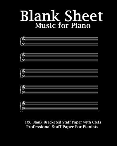 Blank Sheet Music for Piano: Modern Black: Blank Sheet Music