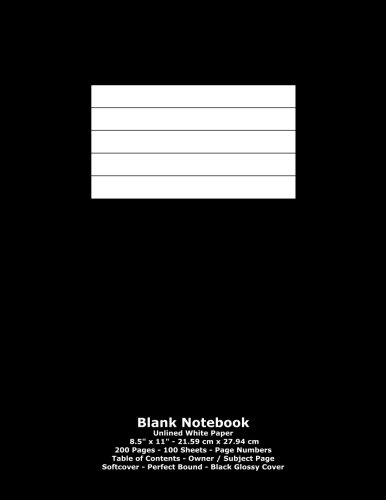 9781530261437: Blank Notebook: Unlined White Paper - 8.5