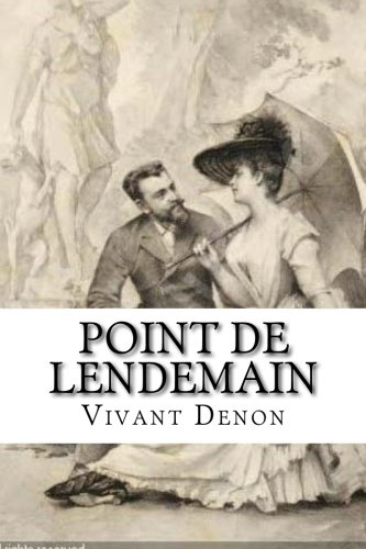 9781530265350: Point de lendemain (French Edition)