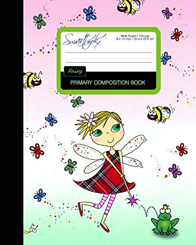 Composition Book Cover Tutorial By V And Co : Primary composition book fairy kids school exercise