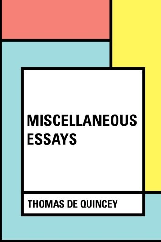 9781530379545: Miscellaneous Essays