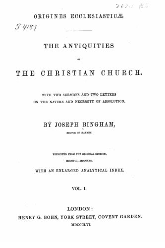 9781530382873: The antiquities of the Christian church