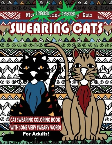 Swearing Cats Cat Swear Word Coloring Book Books Words