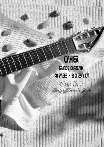 9781530445912: Cahier Grands Carreaux 48 pages 21x 29,7 cm Music Style: Interieur Seyes Grands Carreaux et Couverture Brillante Design Music Style 4