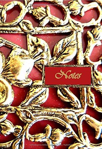 9781530495795: Notizbuch A5 - Notes - Red Ornament: liniert (German Edition)