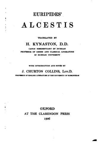 9781530505678: Euripides' Alcestis