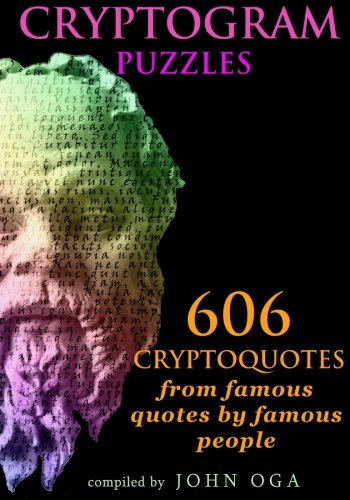 9781530512010: Cryptogram Puzzles: 606 Cryptoquotes from