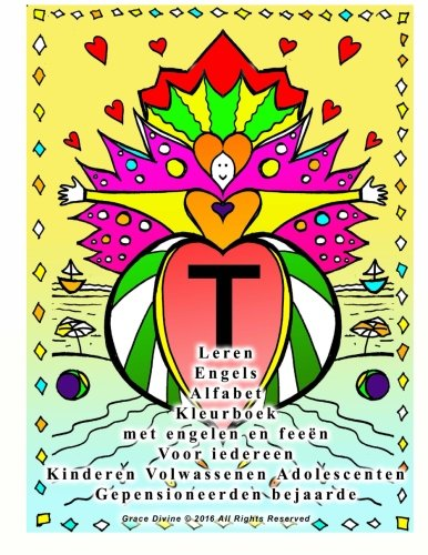 Leren Engels Alfabet Kleurboek Met Engelen En: Grace Divine