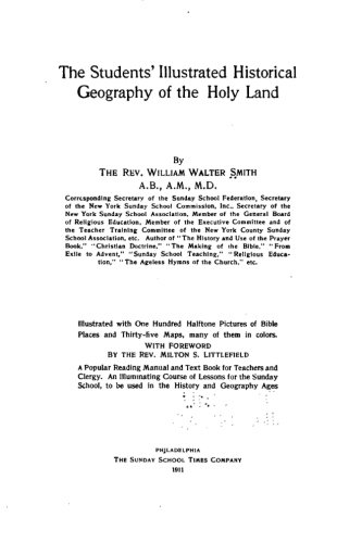 9781530635184: The Students' Illustrated Historical Geography of the Holy Land
