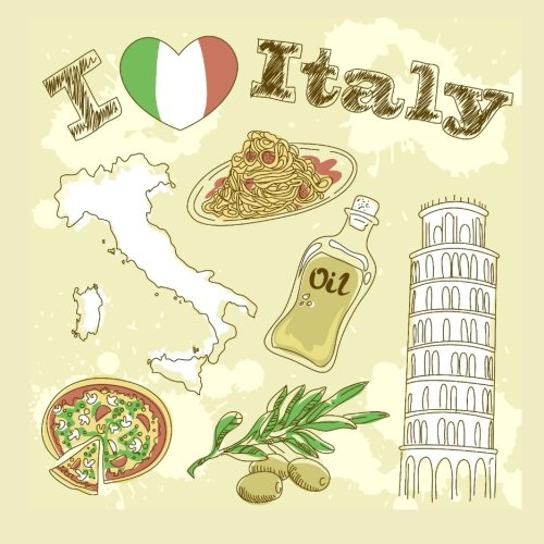 9781530652334: I Love Italy: Beautiful 200 Page Book; Italy Decor in all Departments; Itally Decorations in al; Italy Party Supplies in al; Italy Decor for Bedroom in al; Italy Decor for Bathroom in al