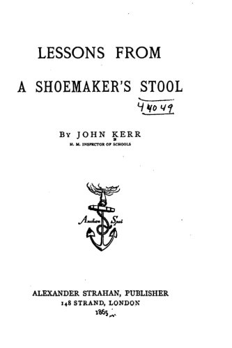 9781530681594: Lessons from a Shoemaker's Stool