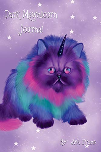 9781530695447: Rainbow Fantasy Dark Mewnicorn Blank Journal
