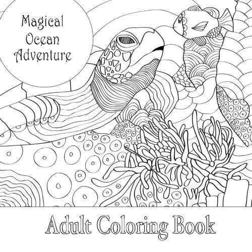 9781530849529: Magical Ocean Adventure Adult Square Coloring Book (Beautiful Square Adult Coloring Books) (Volume 4)