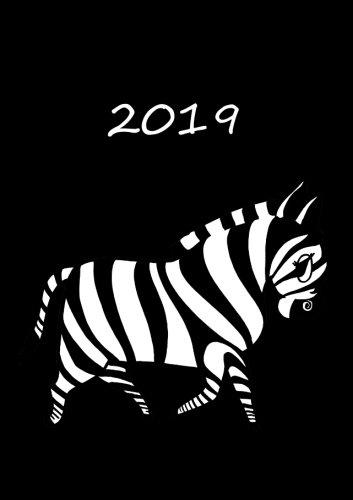 9781530882687: Kalender 2019 - Mein Zebra - Black/schwarz: DIN A5-1 Woche pro Doppelseite - Schwarz