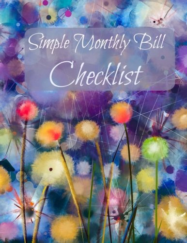 Simple Monthly Bill Checklist (Extra Large Budget: Cascade Colors Fun