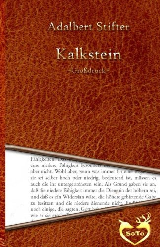 Kalkstein - Grossdruck: Stifter, Adalbert
