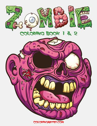Zombie Coloring Book 1 & 2: Nick Snels