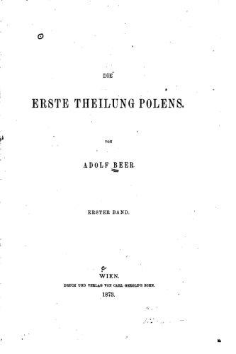 9781530944200: Die erste Theilung Polens