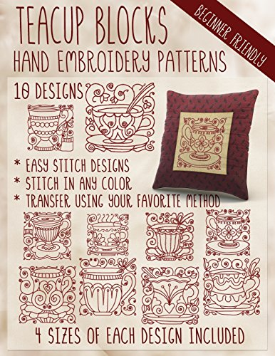 Teacup Blocks Hand Embroidery Patterns