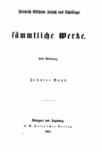 9781530971961: Friedrich Wilhelm Joseph von Schellings sämmtliche Werke