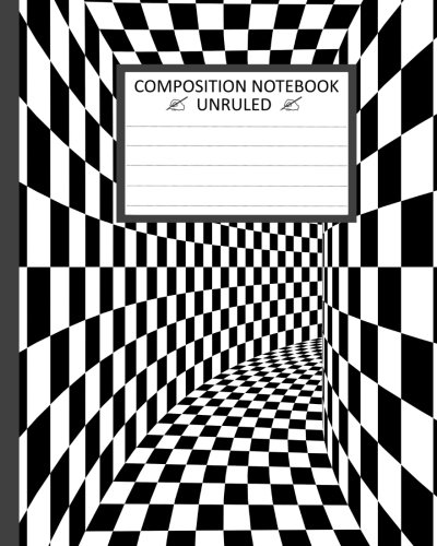 """Unruled Composition Notebook: Unruled Composition Notebook 8"""" x 10"""". 120 Pages. Black and ..."""