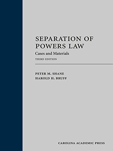 9781531002527: Separation of Powers Law: Cases and Materials (Law Casebook)