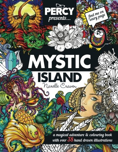 9781532721304: Percy Presents: Mystic Island: An Adult Colouring book with Original Hand Drawn Art by Narelle Craven