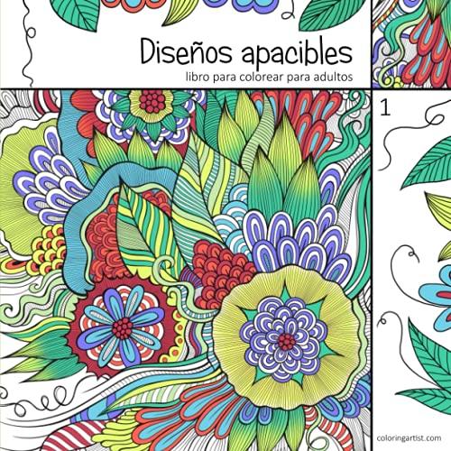 9781532749971: Diseños apacibles libro para colorear para adultos 1: Volume 1