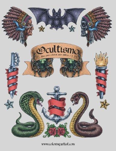 9781532750632: Ocultismo libro para colorear para adultos 1 & 2
