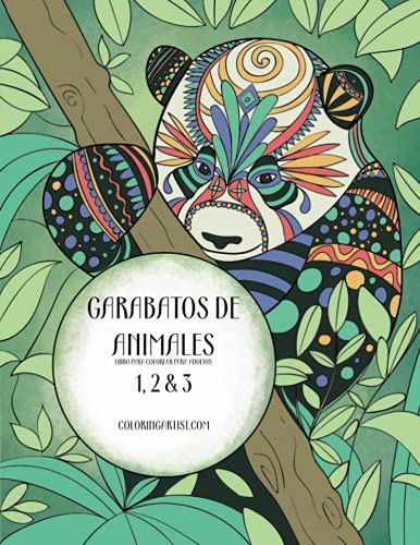 9781532751387: Garabatos de animales libro para colorear para adultos 1, 2 & 3