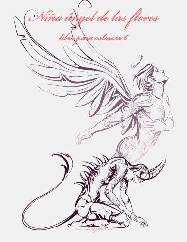 9781532753572: Niña ángel de las flores libro para colorear 6 (Volume 6) (Spanish Edition)