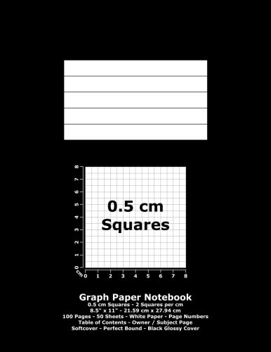 9781532767081: Graph Paper Notebook: 0.5 cm Squares - 8.5