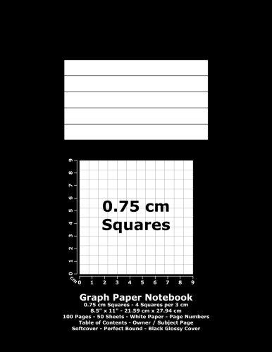 9781532784897: Graph Paper Notebook: 0.75 cm Squares - 8.5