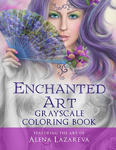 9781532792434: Enchanted Art Grayscale Coloring Book: For Grown-Ups, Adult Relaxation