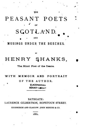 9781532809323: The peasant poets of Scotland and musings under the beeches