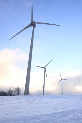 9781532816772: Wind Turbines in the Snow Journal: Blank Lined Journal for Your Thoughts, Ideas, and Inspiration