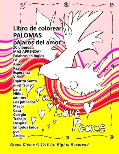 Libro de Colorear Palomas Pajaros del Amor: Grace Divine