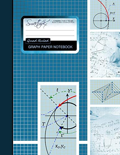 Graph Paper Notebook: Squared Graphing Paper *: smART bookx