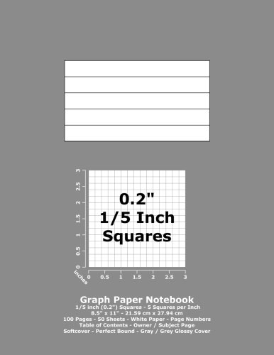 9781532884405 graph paper notebook 0 2 inch 1 5 squares 8 5