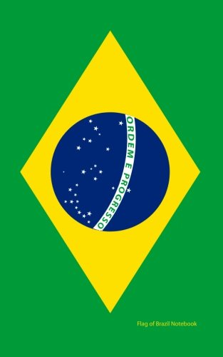 9781532887079: Flag of Brazil Notebook: College Ruled Writer's Notebook for School, the Office, or Home! (5 x 8 inches, 78 pages)